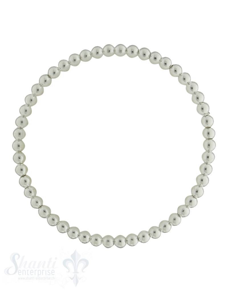 Elastikarmband Silber Kugel einfach