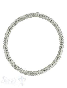 Armkette auf Elastik Silber Rädli 45 mm 18 cm