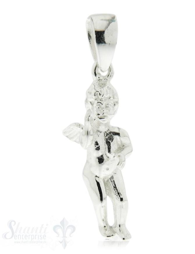 Silber-Anhänger: Engel (stehend) poliert 8x22 mm