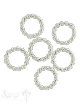 Silberjumpring Dicke 2.3 mm geschlossen gedr reht 8 Stk. / Pack