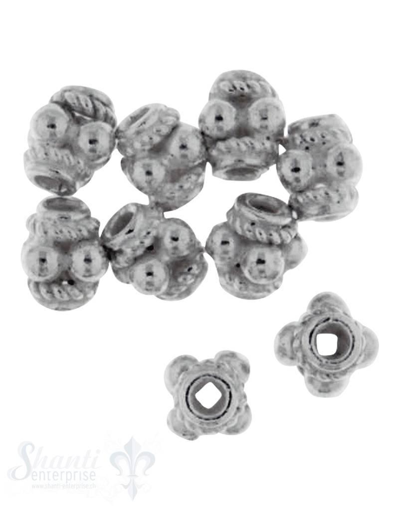 Zwischenteil Silber verziert 1 Pack