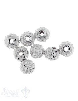 Zwischenteil Silber verziert 5 mm ID 1,2 mm 1 Pack = 9 Stk. ca. 5 gr.