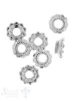 Perlkappe Silber konisch mit Tupfen 8 mm Loch ID 2,8 mm 1 Pack = 9 Stk. ca. 5 gr. für 8 mm Perl