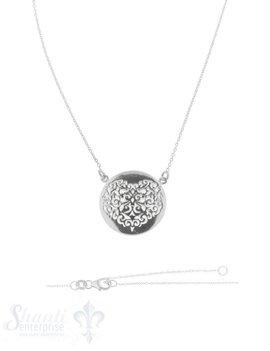 Halskette Silber Anker Amulett Herz durchbrochen Karabiner 40+45 cm Grössen verstellbar