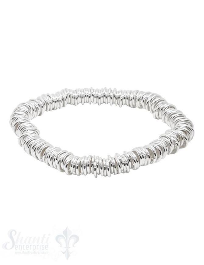 Elastikarmband Silber Rädli fein 6mm 18.5 cm
