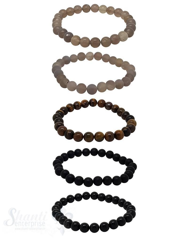 Elastikarmband Herren 8 mm 20 cm