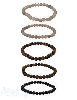 Elastikarmband Herren 6 mm 19 cm