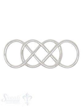 Silberteil mit Doppelösen keltischem Knoten durchbrochen