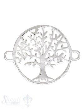 Silberteil mit Doppelösen Lebensbaum 24x17 mm 70 mm