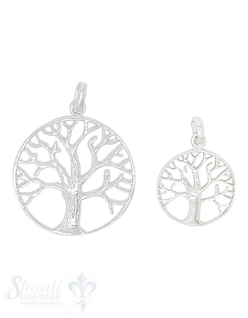 Silberanhänger Baum des Lebens durchbrochen  mit Öse