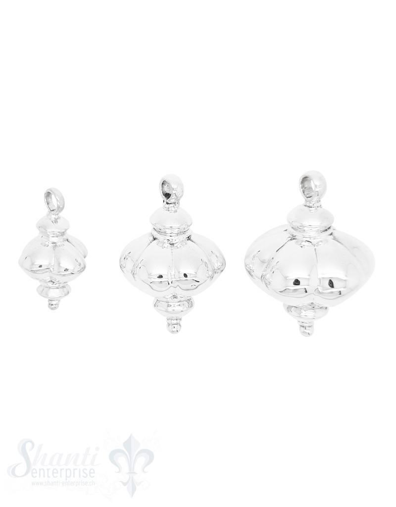 Silberanhänger: orientalische Form bauchig mit Öse