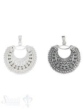 Silberanhänger orientalisch Halbmond verziert mit Öse 30 mm