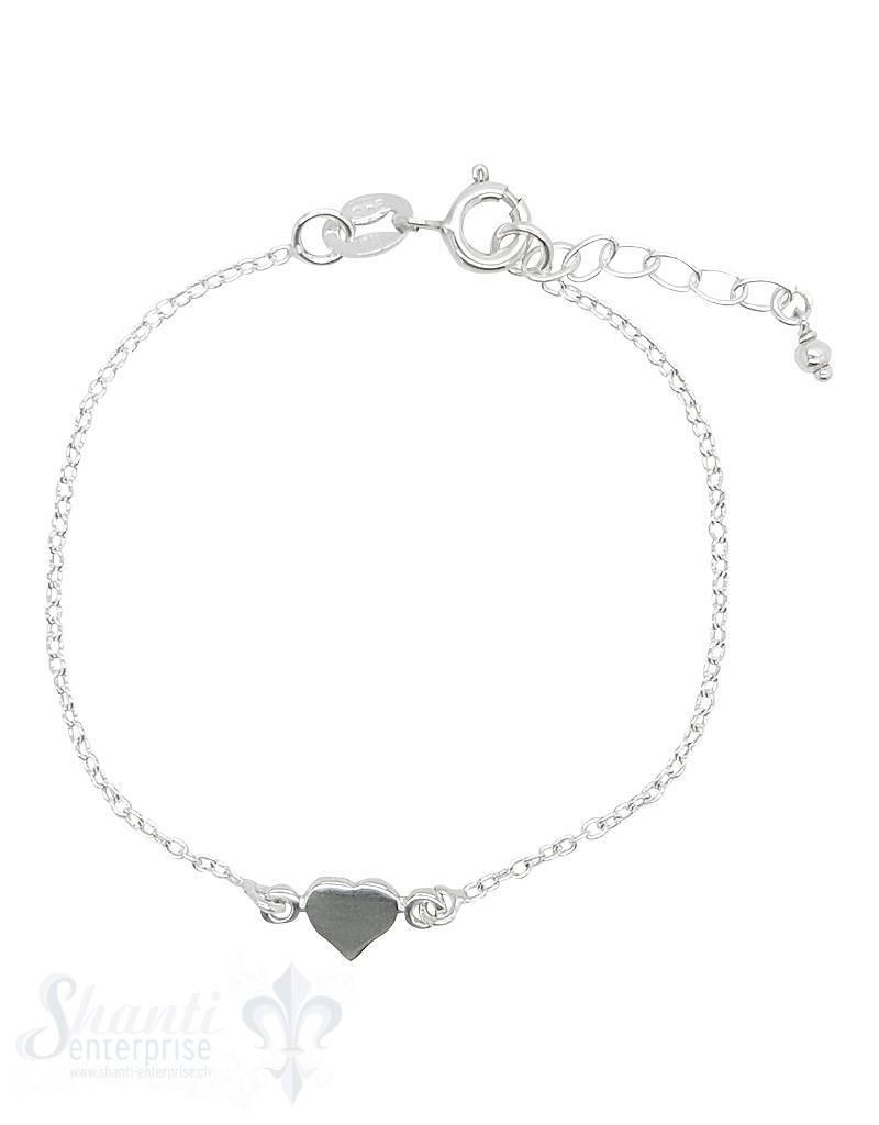 Kinderschmuck  Armkette Anker mit Silberherz Federringschloss Grössen verstellbar