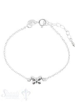 Kinderschmuck Armkette Anker mit Schmetterling Federringschloss Grössen verstellbar