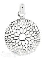 Anhänger Silber Amulett durchbrochen mit Öse 25mm flach