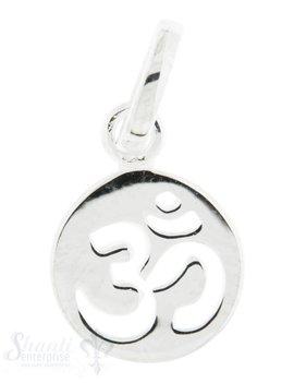 Silberanhänger Symbol Om Zeichen durchbrochen mit Öse  10 mm