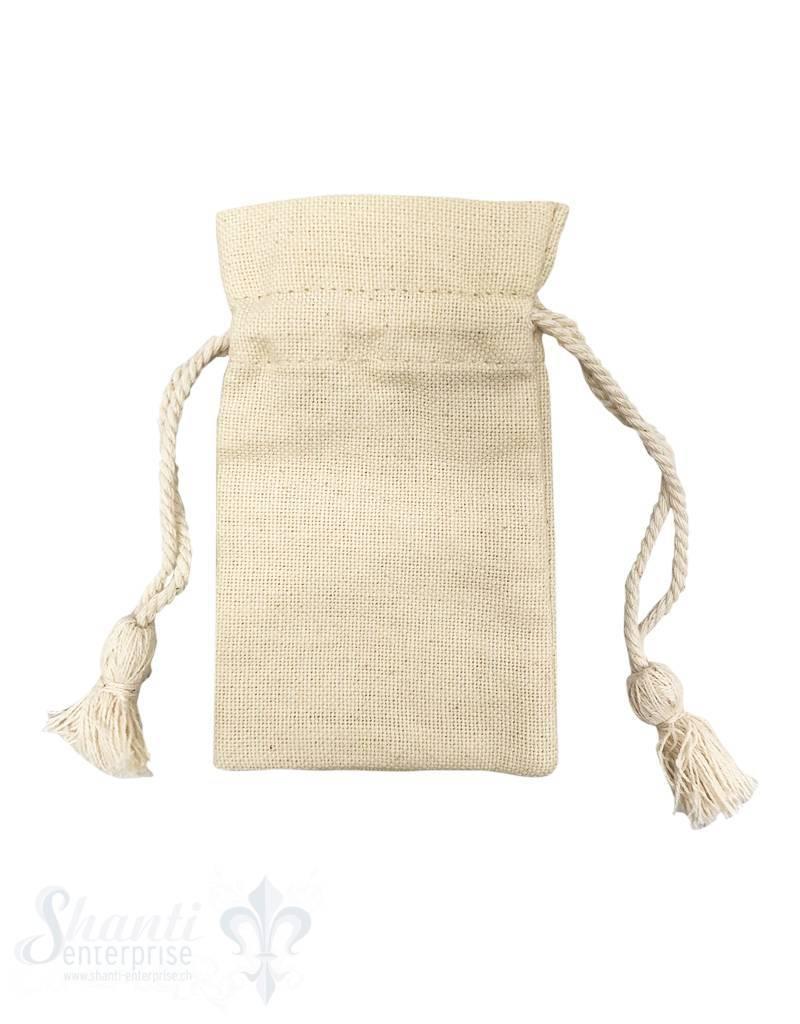 Baumwollsäckli, 25 Stk., grob, sand