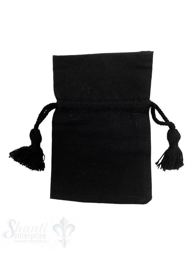 Baumwollsäckli, 25 Stk., schwarz, fein