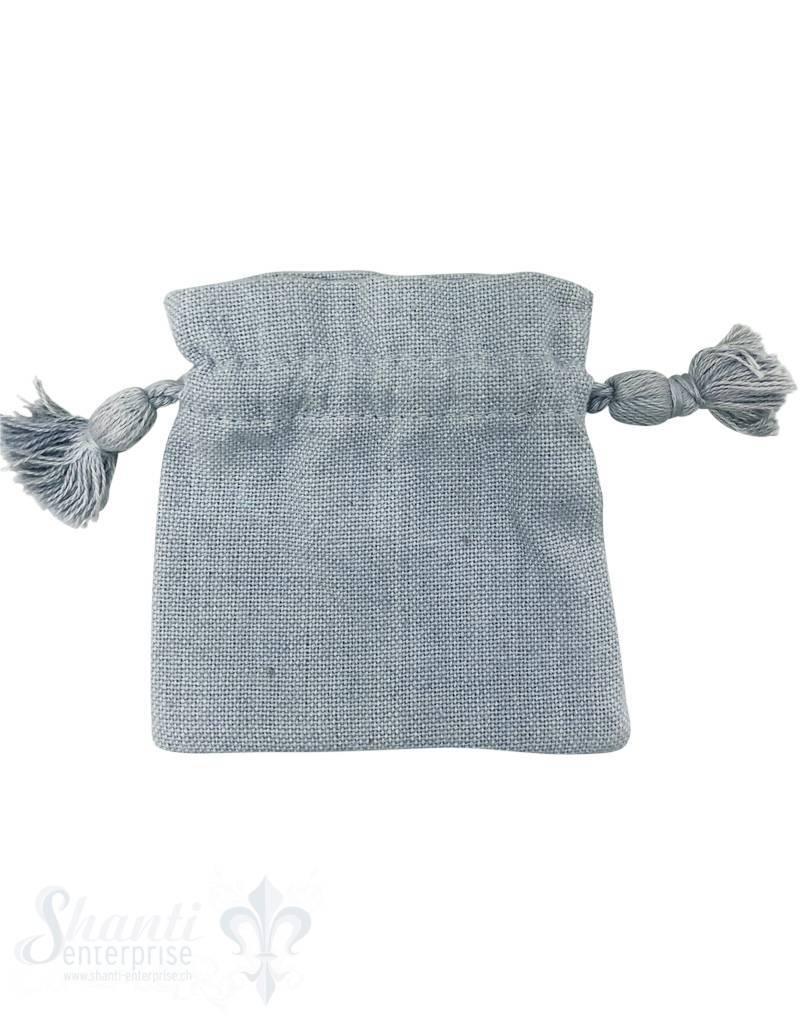 Baumwollsäckli, 25 Stk., grau, grob