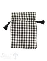 Baumwollsäckli, 25 Stk., grosskariert, schwarz