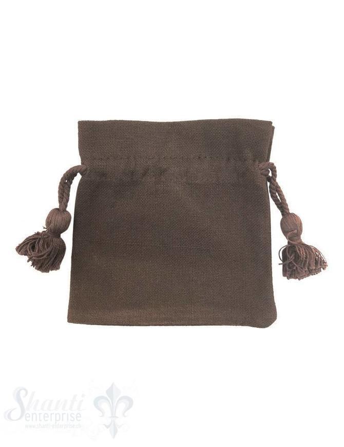 Baumwollsäckli, 25 Stk. grob: taupe