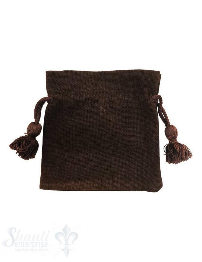 Baumwollsäckli, 25 Stk. grob: braun