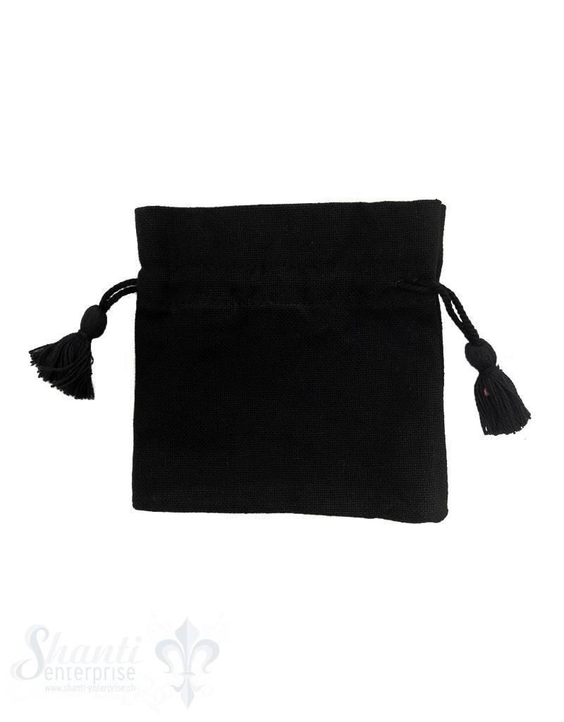 Baumwollsäckli, 25 Stk. grob: schwarz