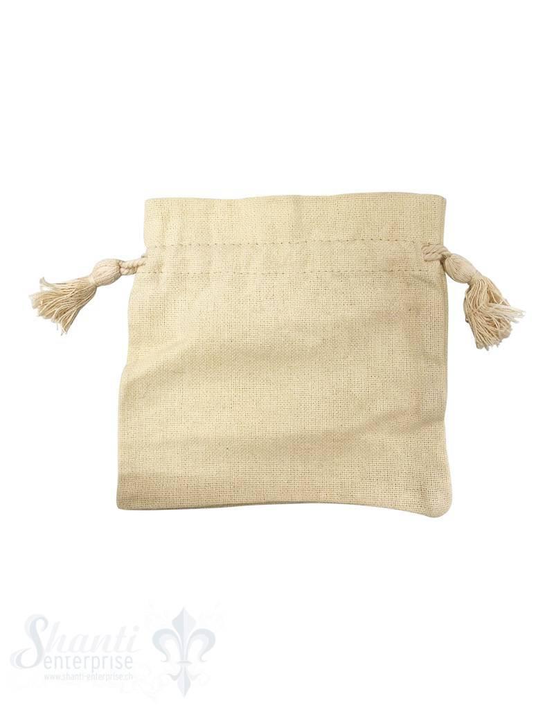 Baumwollsäckli, 25 Stk. grob: vanille