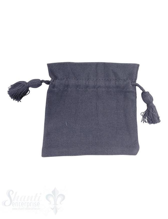 Baumwollsäckli, 25 Stk. grob: taubenblau