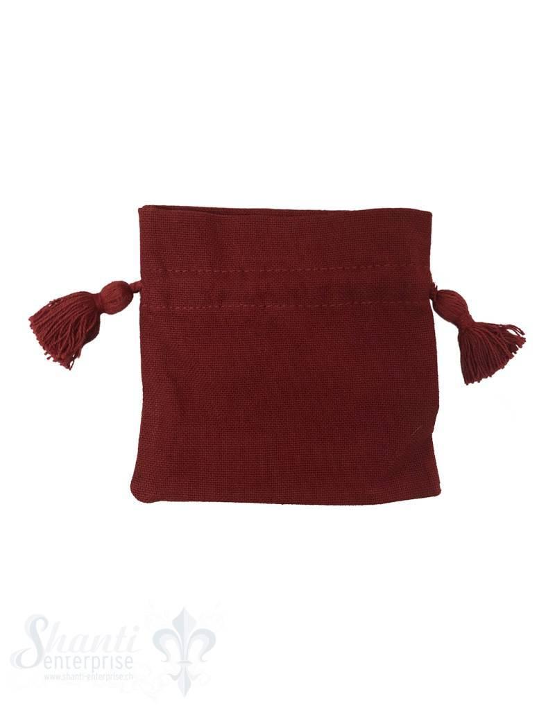 Baumwollsäckli, 25 Stk. grob: erdbeer-rot
