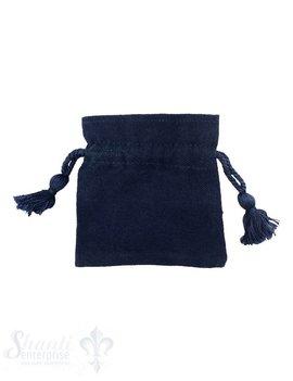 Baumwollsäckli, 25 Stk. grob: blau
