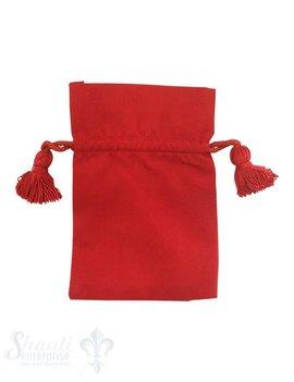 Baumwollsäckli, 25 Stk., rot, fein