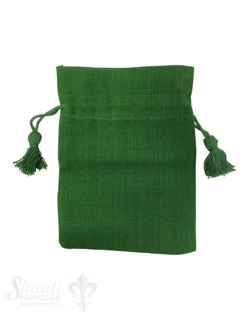 Baumwollsäckli, 25 Stk., grün, grob
