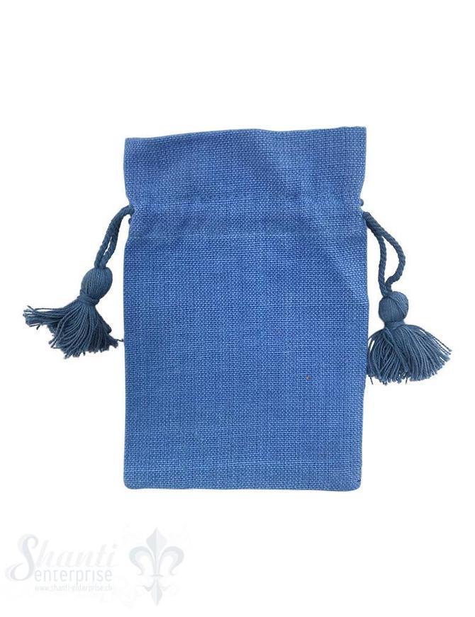 Baumwollsäckli, 25 Stk., blau, grob
