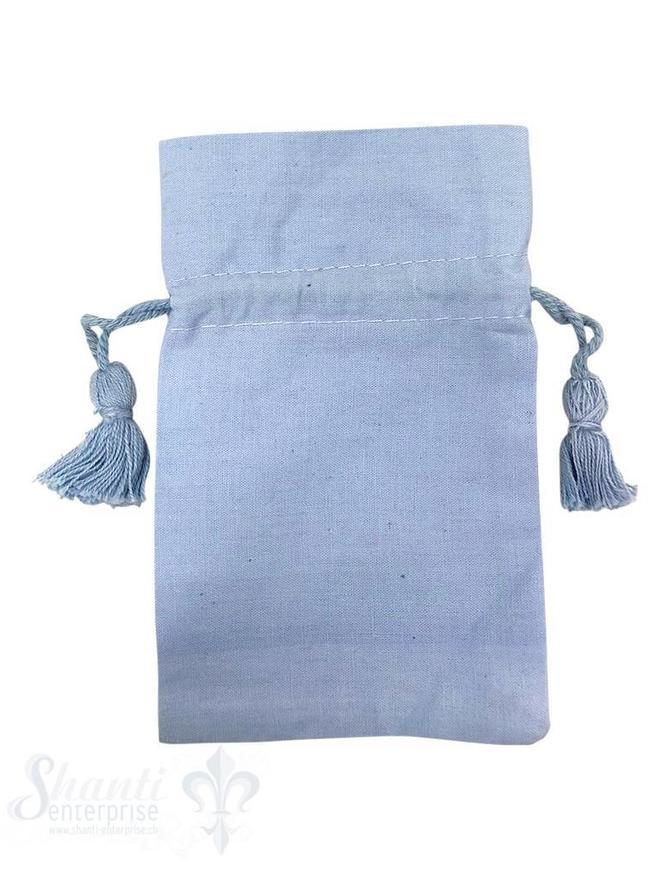Baumwollsäckli, 25 Stk., hellblau, fein