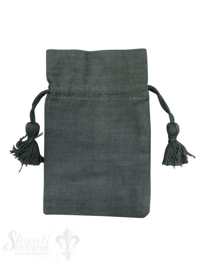 Baumwollsäckli, 25 Stk., dunkelgrau, fein