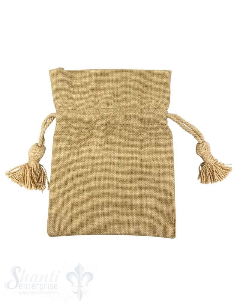 Baumwollsäckli, 25 Stk., camel, grob