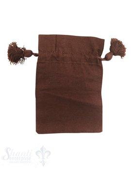 Baumwollsäckli, 25 Stk., braun, fein