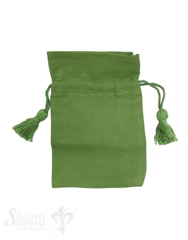 Baumwollsäckli, 25 Stk., grün, fein