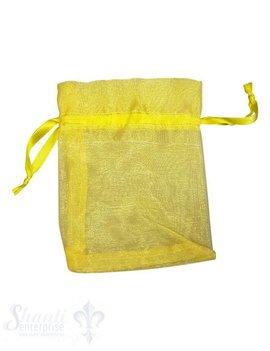 Organza- Säckli, 25 Stk., gelb
