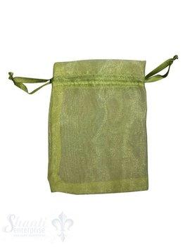 Organza- Säckli, 25 Stk., apfelgrün