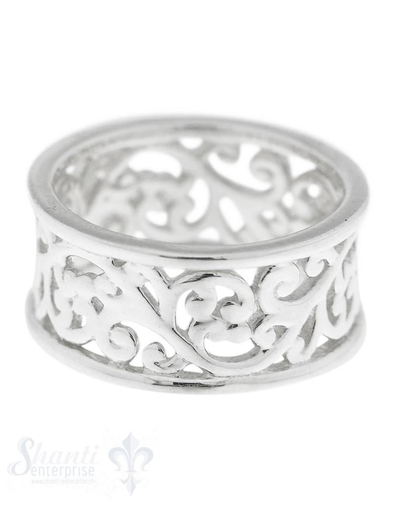 Silberring mit Muster durchbrochen