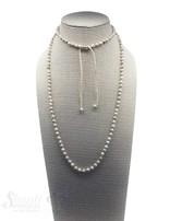 Halskette Bronzit geknüpft 4 mm Grössen verstellbar 85-105 cm