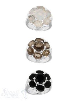 Silberring rund mit 7 Steinen 20 mm