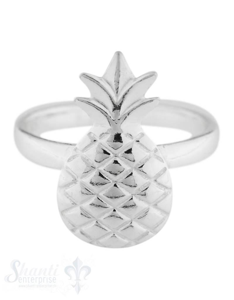Silberring mit Ananas-Frucht