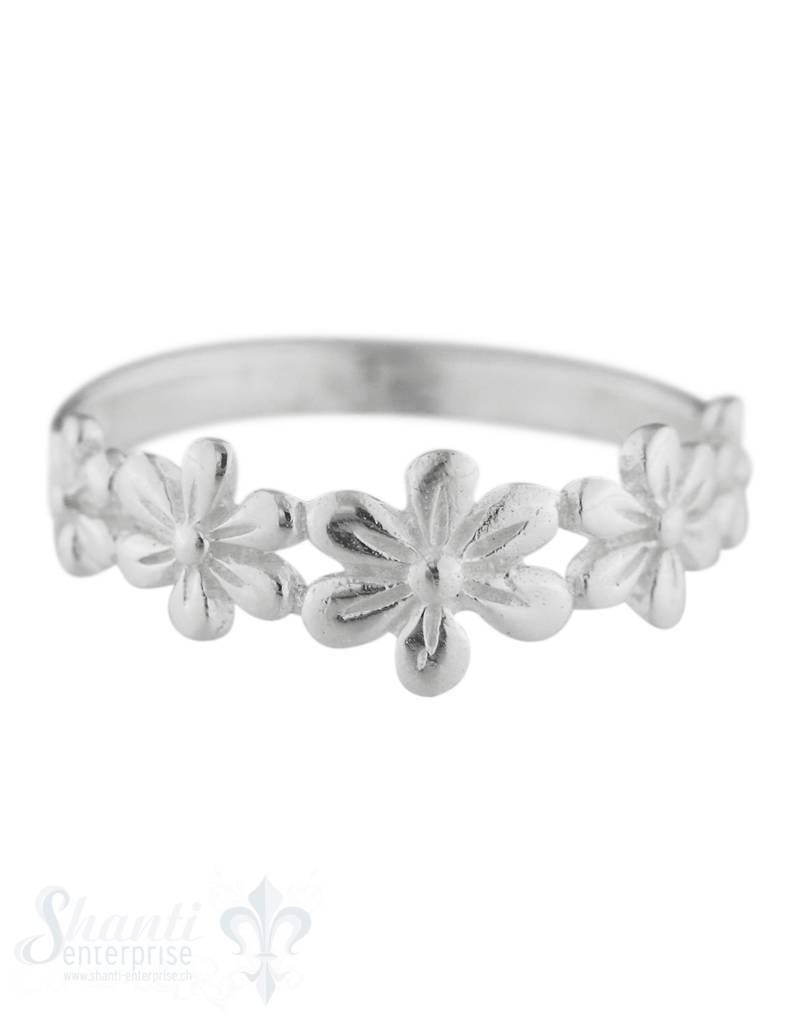 Silberring Blumen fein