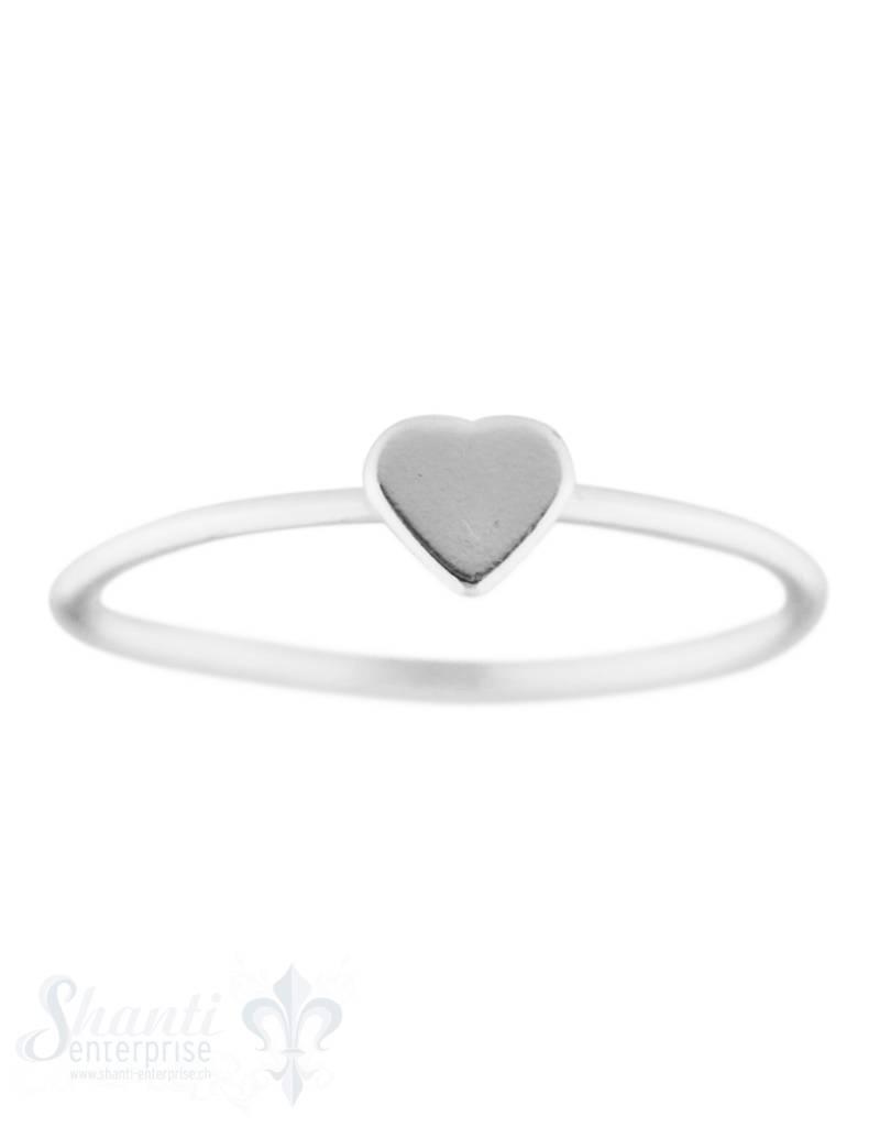 Silberring fein mit Herz