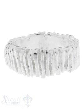 Silberring: Silberstäbli unregelmässig aneinander gereiht