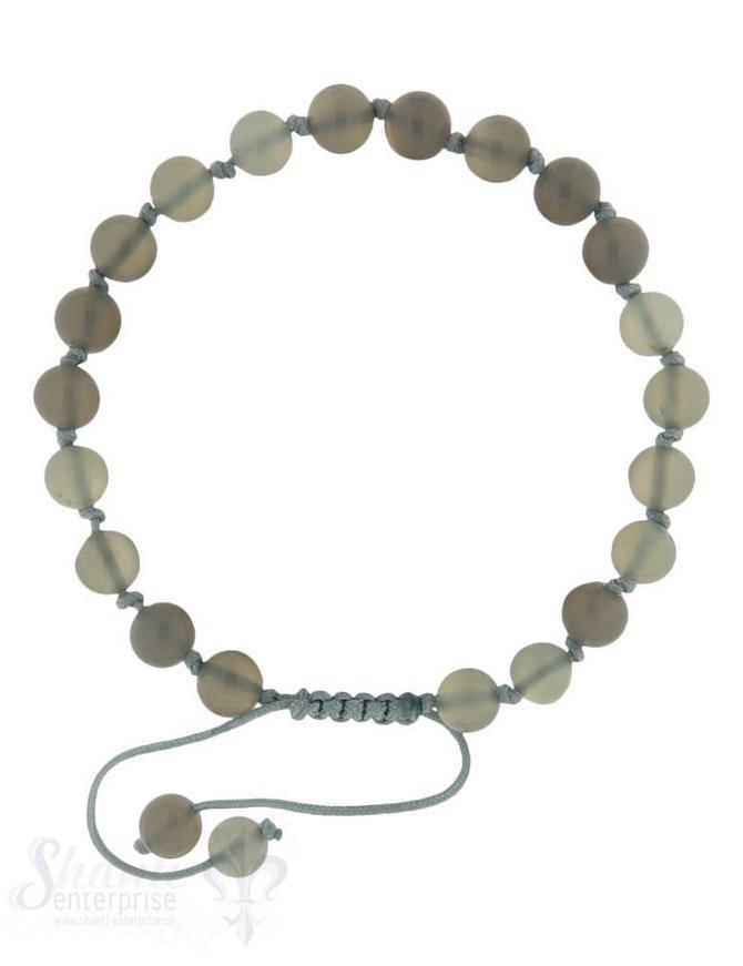 Armkette  geknüpft 6 mm Grössen verstellbar 18-22 cm