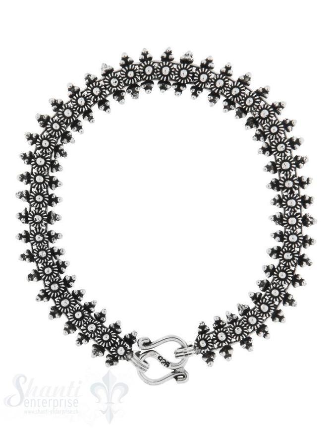 Armkette Silber reich verziert 18 cm S- Verschluss
